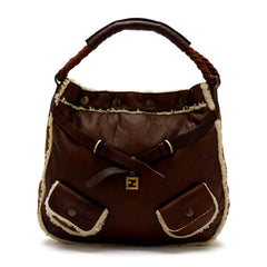 Fendi Tote Hobo Shearling Large
