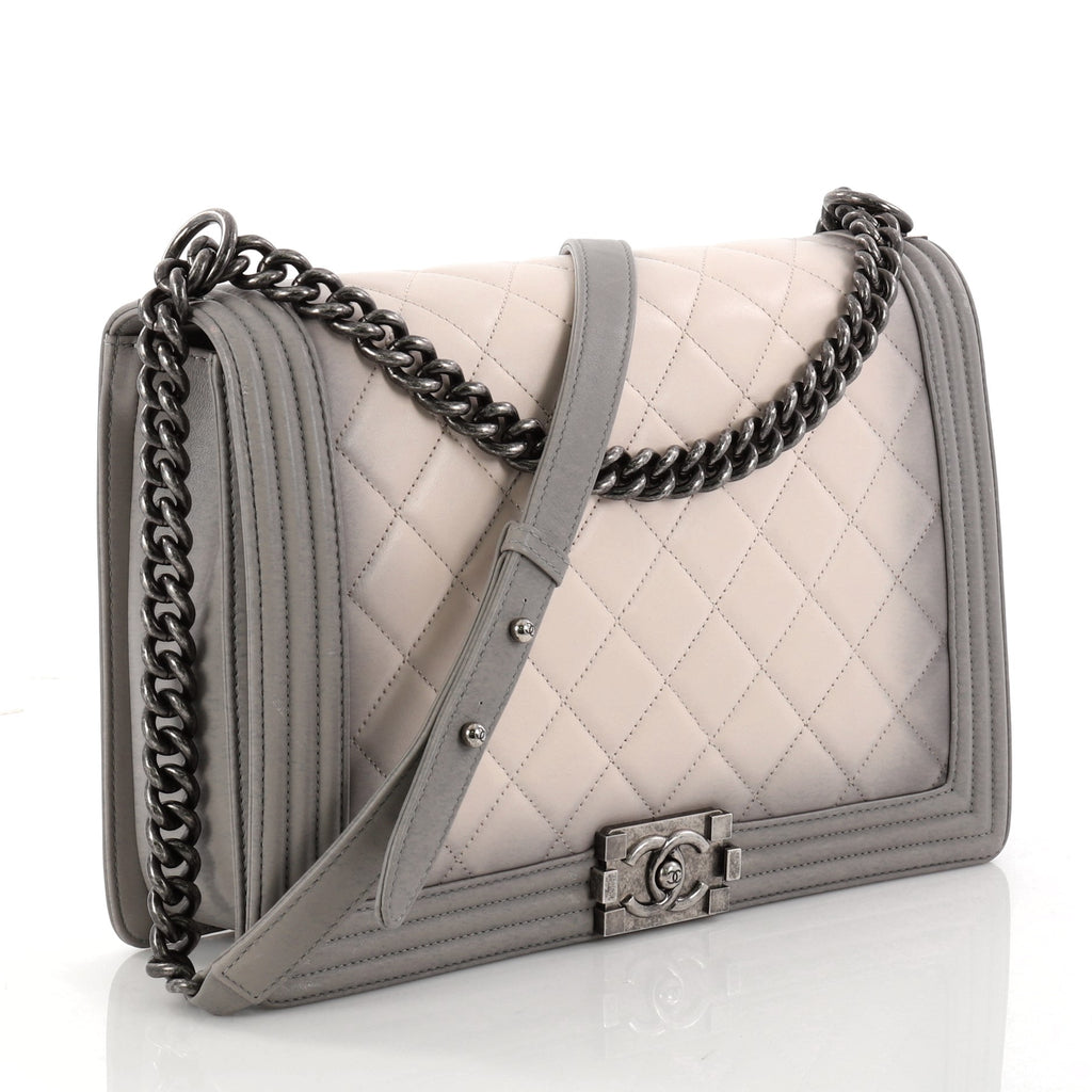 778748491433ab Buy Chanel Boy Flap Bag Quilted Ombre Calfskin Large Gray 2930901 ...