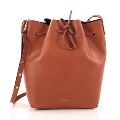 Mansur Gavriel Bucket Bag Leather Large Red 2933101