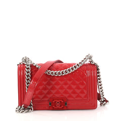 Chanel Boy Flap Bag Quilted Plexiglass Patent Old Medium 2944201