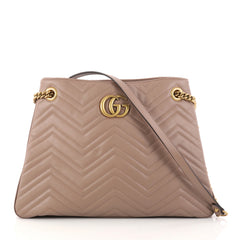 Gucci GG Marmont Chain Shoulder Bag Matelasse Leather 2945001