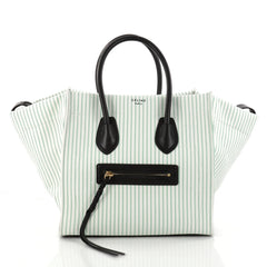 Celine Phantom Handbag Striped Canvas and Leather Medium 2945701