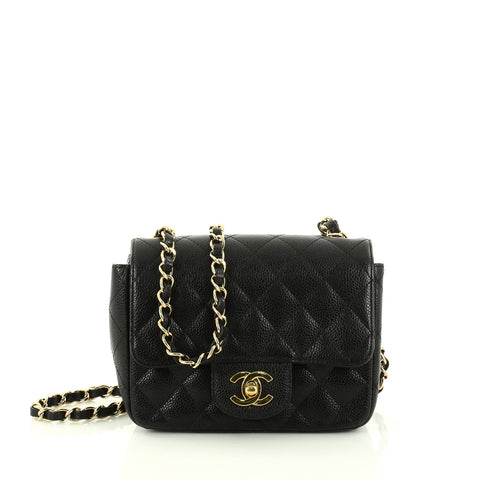 57444a65153d Buy Chanel Square Classic Single Flap Bag Quilted Caviar 2946801 – Rebag