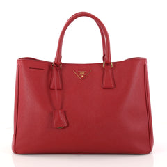 Prada Lux Open Tote Saffiano Leather Large Red 2963201