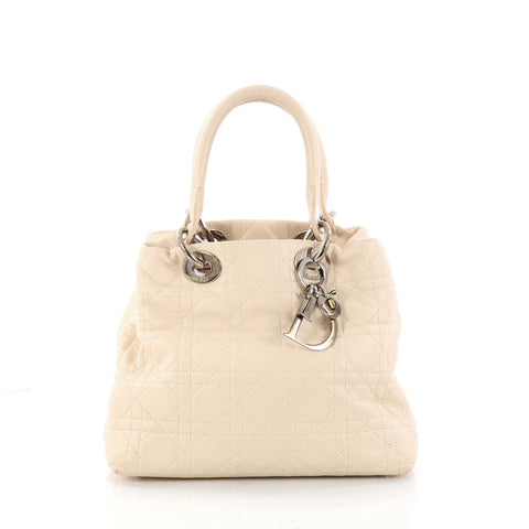 5c7024f74967 Buy Christian Dior Lady Dior Soft Tote Cannage Quilt 2965001 – Rebag