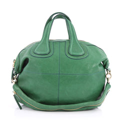 Givenchy Nightingale Satchel Leather Small Green 2967604