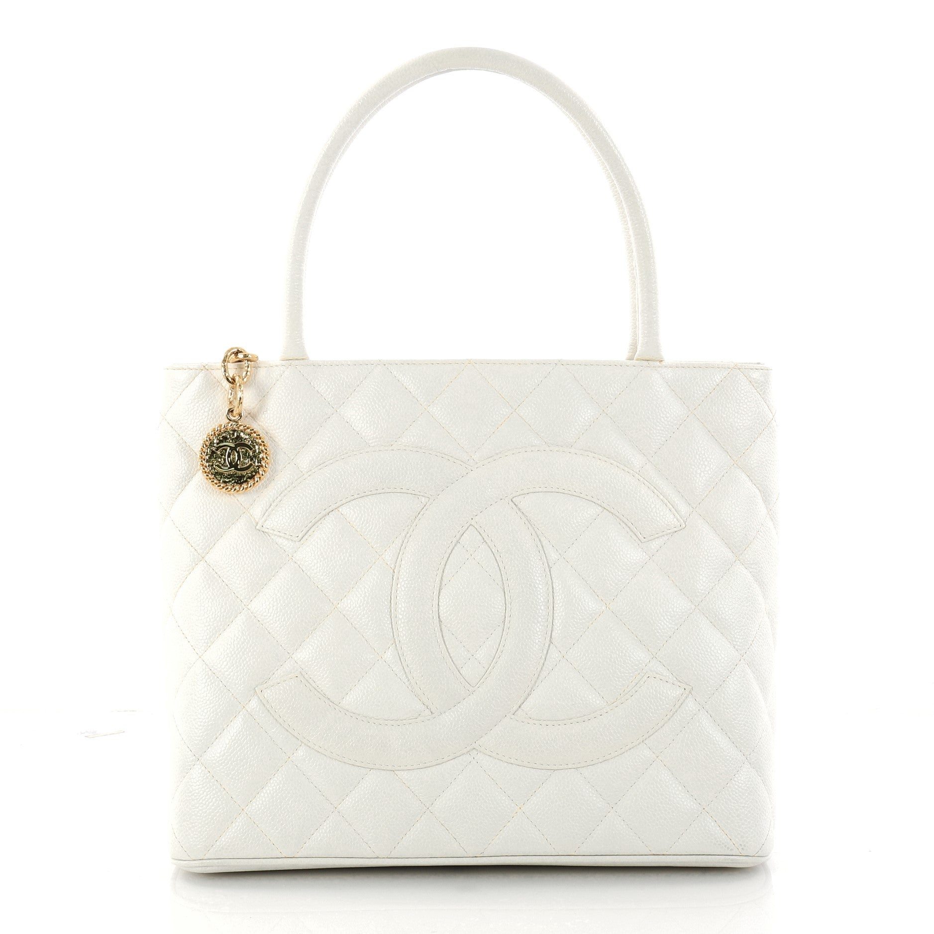Medallion Tote Quilted Caviar