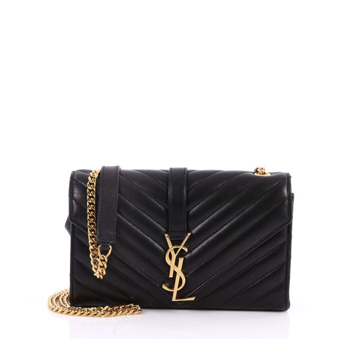 a1c88f8b783323 Buy Saint Laurent Classic Monogram Satchel Matelasse Chevron 2968702 – Rebag