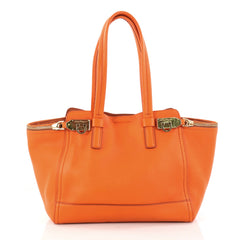 Salvatore Ferragamo Verve Tote Leather Medium Orange 2968801