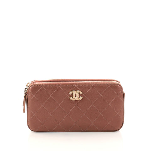 301508457475 Buy Chanel Double Zip Clutch with Chain Quilted Lambskin 2972402 – Rebag