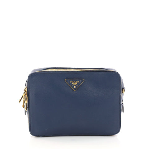 ab1fa2bc6456 Buy Prada Double Zip Crossbody Bag Saffiano Leather Medium 2973003 – Rebag