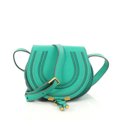 Chloe Marcie Crossbody Bag Leather Mini Green 2973101