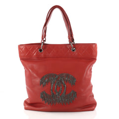 Chanel Rock and Cabaret Tote Lambskin Red 2974101