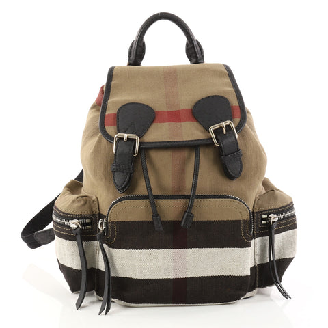 Canvas Burberry Medium Check Rucksack Backpack 2979501 House Buy W6zCxn1