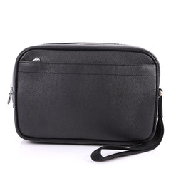 Louis Vuitton Kaluga Pochette Clutch Taiga Leather Black 2981502