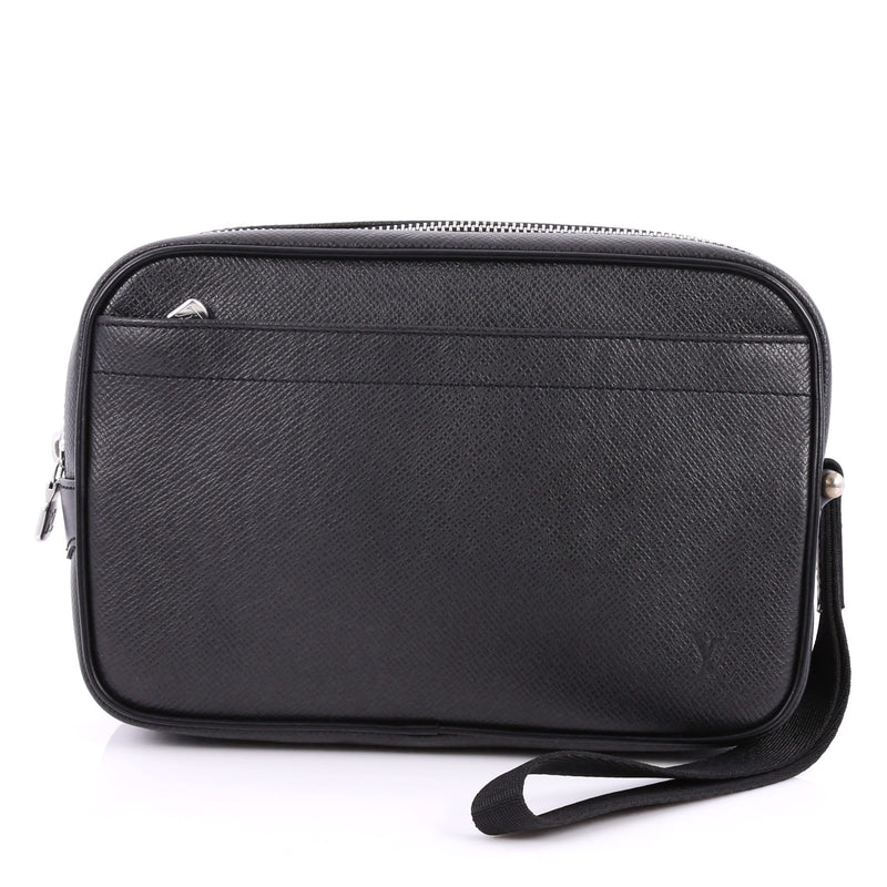 c493c590c6054 Buy Louis Vuitton Kaluga Pochette Clutch Taiga Leather Black 2981502 ...