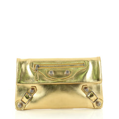 Balenciaga Envelope Clutch Giant Studs Leather Gold 2983503