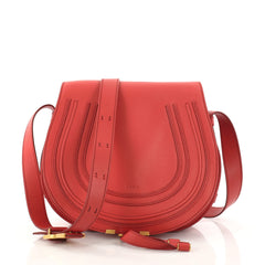 Chloe Marcie Crossbody Bag Leather Medium Red 2984201