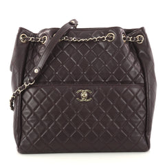 Chanel Drawstring CC Lock Bucket Bag Quilted Lambskin 2984601