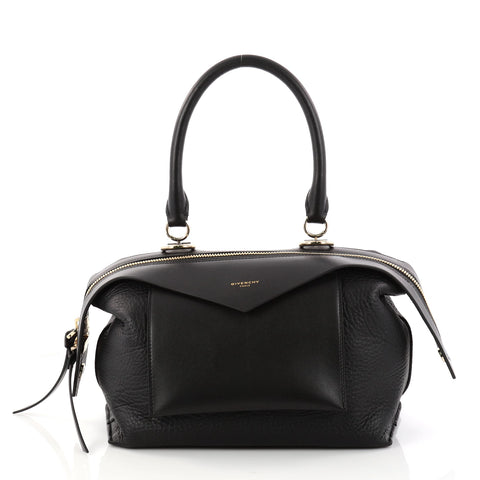 0d00e3f5f28d Givenchy Sway Bag Leather Small Black 2991404 – Rebag