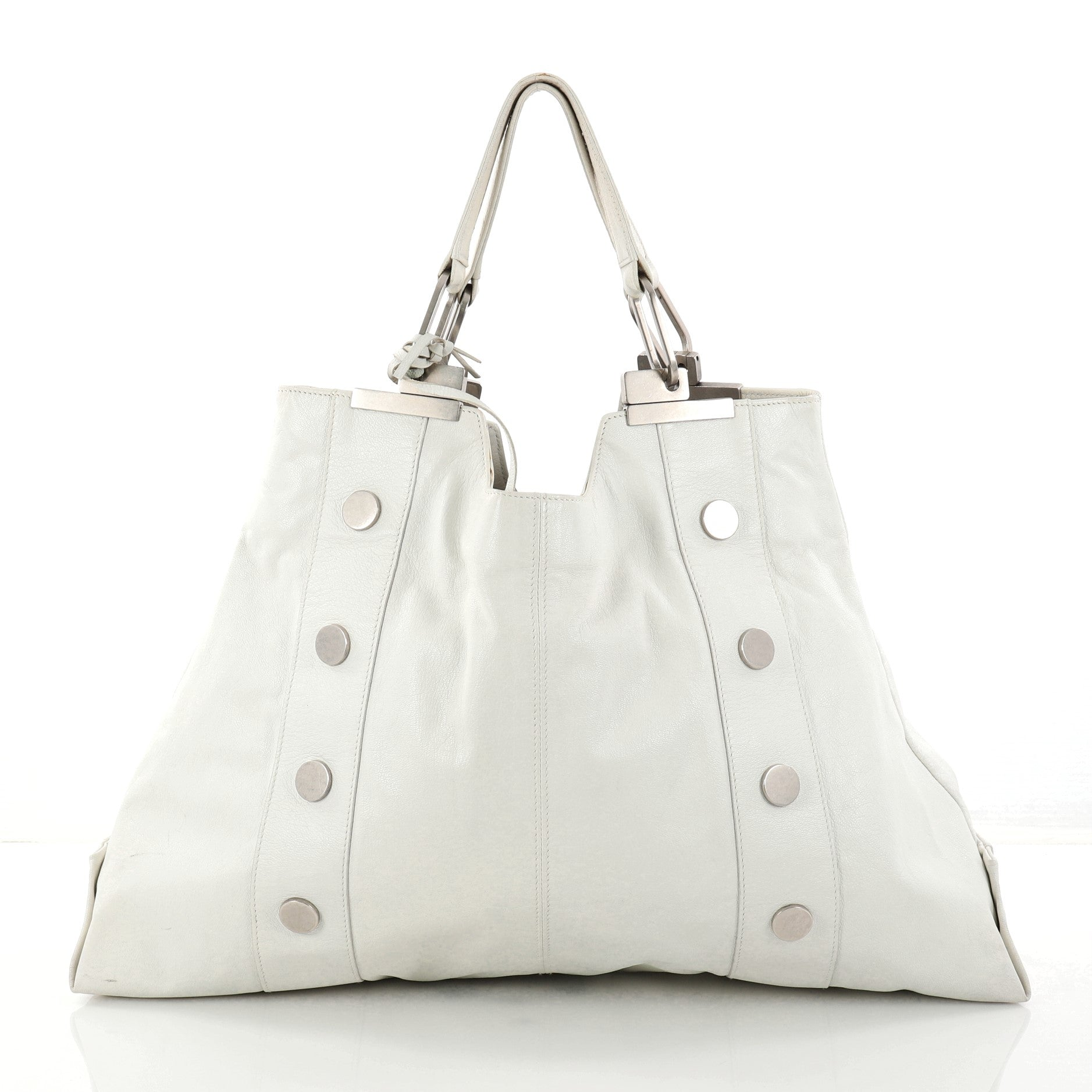 Open Tote Studded Leather Large
