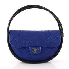Chanel Hula Hoop Bag Quilted Lambskin Small Blue 2992501