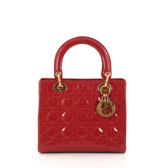 Christian Dior Lady Dior Handbag Cannage Quilt Patent 3000704
