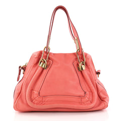 Chloe Paraty Top Handle Bag Leather Small Pink 3004901