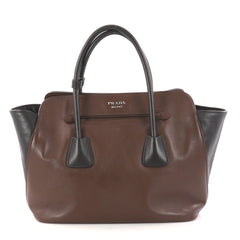 Prada Cuir Convertible Shopping Tote Soft Calfskin Large Brown 3007308