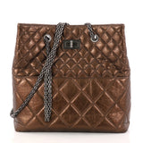 Chanel Reissue Tote Quilted Aged Calfskin Tall Brown 3007312