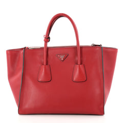 Prada Twin Pocket Tote City Calfskin Large Red 3013301 061d5c450cb95