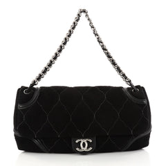 Chanel Rodeo Drive Flap Bag Quilted Microsuede Large 3017601