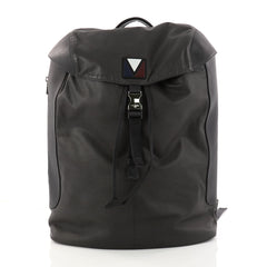 Louis Vuitton Pulse Backpack Leather and Nylon Gray 3017701