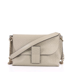 Loewe Avenue Crossbody Anagram Embossed Calfskin Neutral 3019303