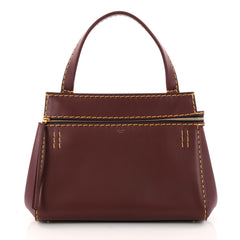 Celine Edge Bag Leather Small Red 3022707