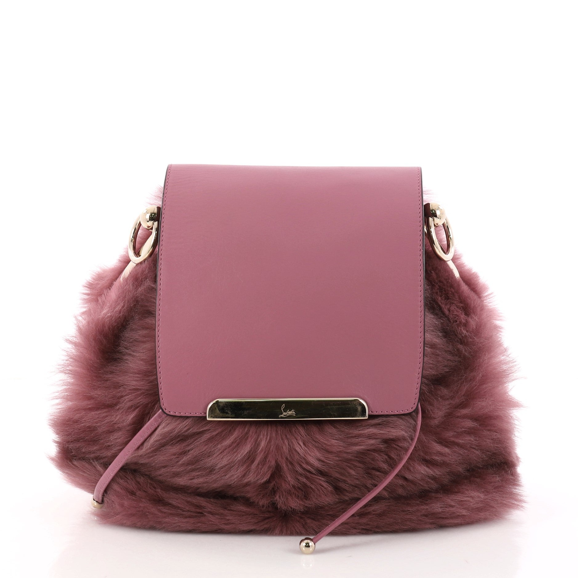 Lucky L Convertible Backpack Fur with Leather