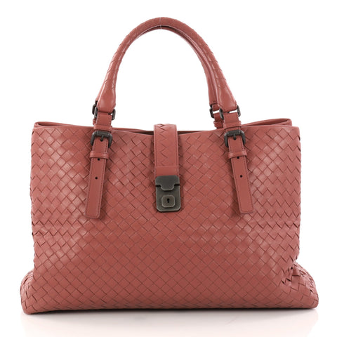 34ae4a6bb5 Buy Bottega Veneta Roma Handbag Intrecciato Nappa Medium 3026902 – Rebag