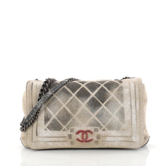 Chanel Art School Oh My Boy Flap Bag Graffiti Canvas 3031901