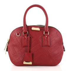 Burberry Orchard Bag Embossed Check Leather Small 30350/01