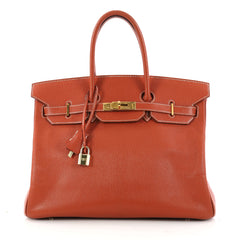 Hermes Birkin Handbag Red Chevre de Coromandel with Gold 3036301