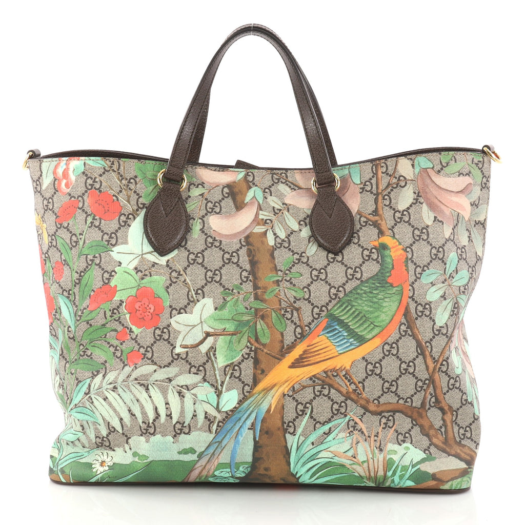 47c10cc77bfd Buy Gucci Convertible Soft Tote Tian Print GG Coated Canvas 3039601 ...