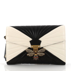 Gucci Queen Margaret Clutch Colorblock Leather 3040002