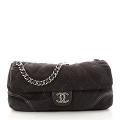Chanel Rodeo Drive Flap Bag Quilted Microsuede Large 3041902