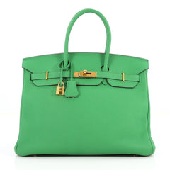 Hermes Birkin Handbag Green Togo with Gold Hardware 35 3045701