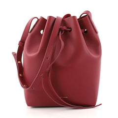 Mansur Gavriel Bucket Bag Leather Mini Red 3047002