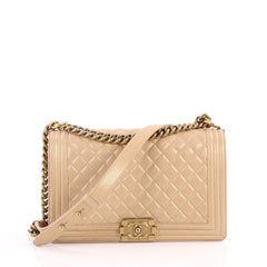 Chanel Boy Flap Bag Quilted Calfskin New Medium 3048401
