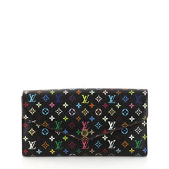 Louis Vuitton Sarah Wallet NM Monogram Multicolor Black 3051401