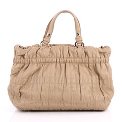 Christian Dior Delices Tote Cannage Quilt Leather Medium Neutral 3052902