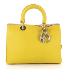 Christian Dior Diorissimo Tote Smooth Calfskin Medium Yellow 3054001