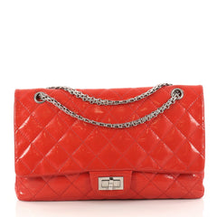 Chanel Reissue 2.55 Handbag Quilted Patent 227 Red
